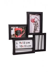 Ceanothe - 34433 - Détroit Cadre Photo - Multi-Vues - 10 x 15/9 x 13 cm - Noir