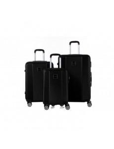 MURANO Set de 3 Valises 50/60/70 cm Noir Mixte