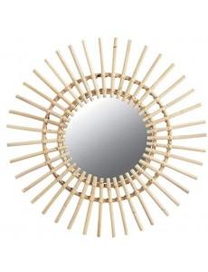Miroir soleil en rotin Ø 55 cm