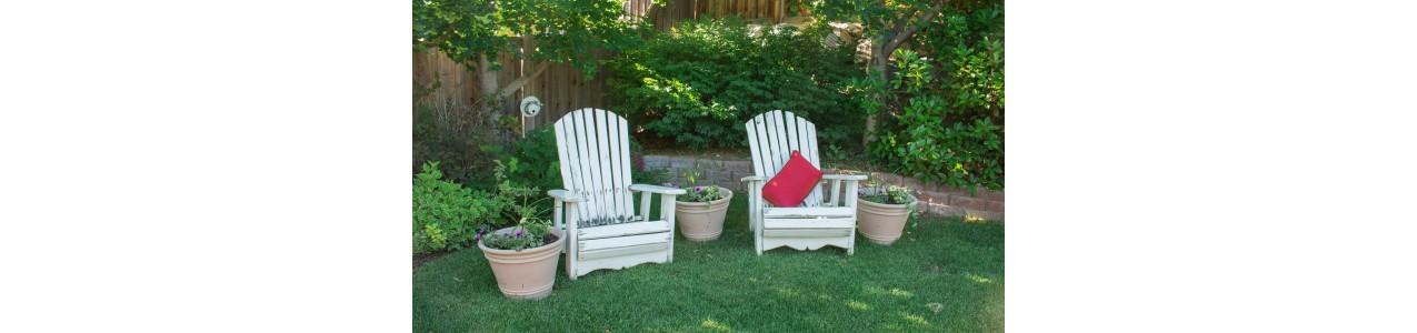 Différents types de mobilier de jardin et parasol au choix